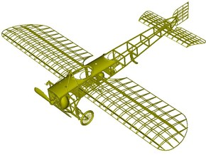 1/18 scale Bleriot XI-2 WWI model kit #1 of 3 in Smooth Fine Detail Plastic