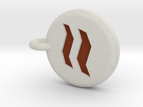 Runescape: Earth Rune Keychain in Full Color Sandstone