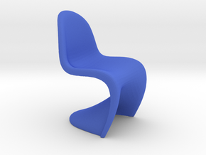 1/12 Doll House Chair Version 1 in Blue Processed Versatile Plastic