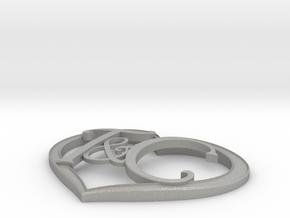 T&C Heart Right Size in Aluminum