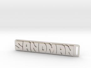 Holden - Panel Van - Sandman Key Ring in Rhodium Plated Brass