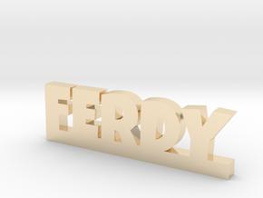 FERDY Lucky in 14k Gold Plated Brass
