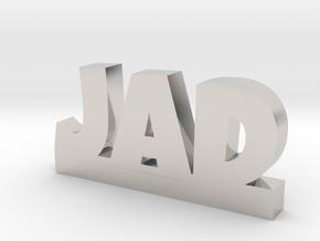 JAD Lucky in Rhodium Plated Brass