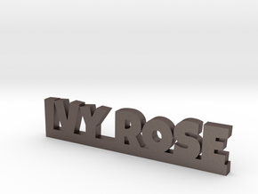 IVY ROSE Lucky in Polished Bronzed Silver Steel