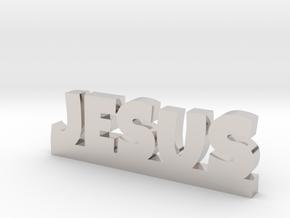 JESUS Lucky in Rhodium Plated Brass