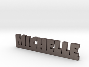 MICHELLE Lucky in Polished Bronzed Silver Steel