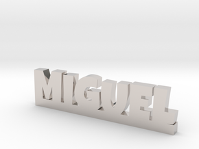 MIGUEL Lucky in Rhodium Plated Brass