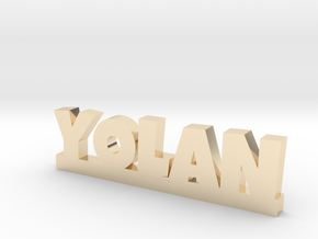 YOLAN Lucky in 14k Gold Plated Brass