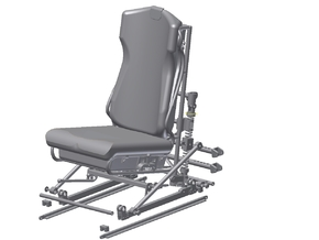 1:7 Scale Bell Pilot Seat  in White Strong & Flexible Polished