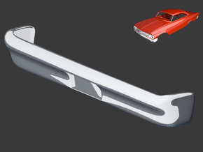 Ford Starliner 1961 Rear Bumper 1/8 in White Strong & Flexible