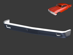 Ford Starliner 1961 Front Bumper 1/8 in White Strong & Flexible