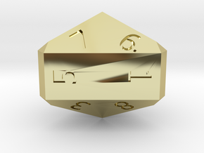 Nine-Sided Die (d9) in 18K Gold Plated