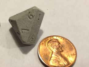 Nine-Sided Die (d9) in Polished Metallic Plastic