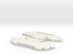 2 X EMD Fuel Tank Middle Sections in White Natural Versatile Plastic: 1:64 - S