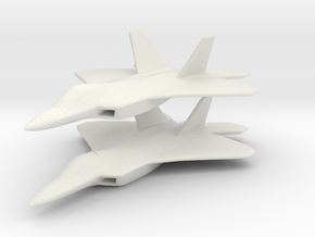 1/350 F-22 Raptor Fighter X 2 in White Natural Versatile Plastic