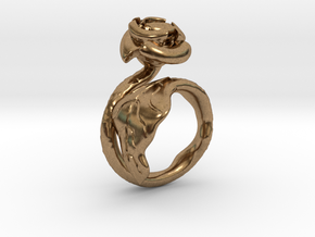 Flower Ring (multi size) in Natural Brass