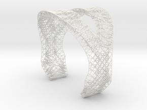 Modern Bracelet  in White Natural Versatile Plastic