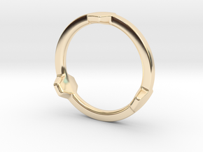 Hex 3 Ring - Full edition in 14k Gold Plated Brass: 4 / 46.5