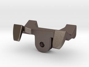 GoPro universal flashlight mount in Polished Bronzed Silver Steel