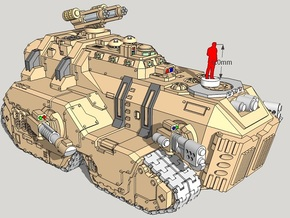 6mm Maxadon Assault Vehicle in Smooth Fine Detail Plastic