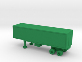 1/144 Scale M1006 Trailer in Green Strong & Flexible Polished