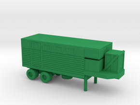 1/144 Scale M447 Trailer in Green Strong & Flexible Polished