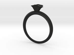 Royal shaton ring in Black Natural Versatile Plastic