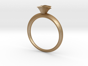 Solitaire setting in Matte Gold Steel