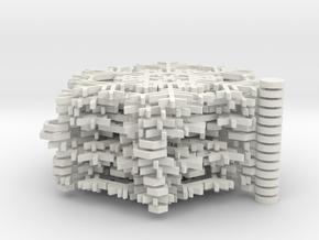 Snowflake Ornaments - One Dozen Large in White Strong & Flexible