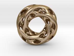 0610 IsoSurface F(x,y,z)=0 Diamond Tori [4] d=5cm in Polished Gold Steel