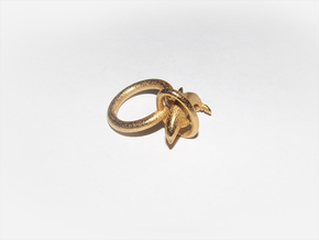 Dolplin Ring(US Size10) in Polished Gold Steel