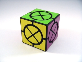 Circle X Cube Puzzle in White Natural Versatile Plastic