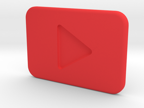 Youtube Play button in Red Processed Versatile Plastic