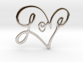 Love Pendant in Platinum