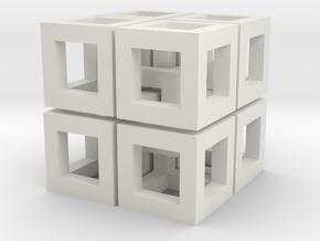 Impossible Cubes in White Natural Versatile Plastic