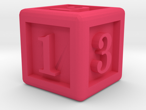 Six-Sided Dice in Pink Strong & Flexible Polished