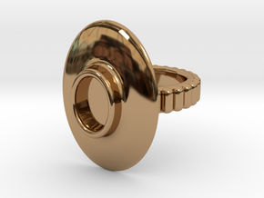 """Ring """"Albrecht"""" in Polished Brass: 5.5 / 50.25"""