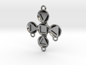 "Pendant ""Theodor"" in Polished Silver: Medium"