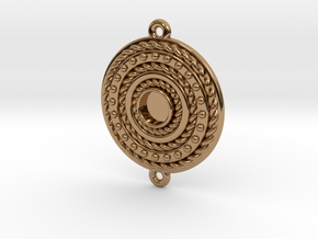"Pendant ""Rotonde"" in Polished Brass"