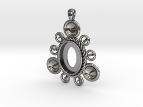 "Pendant ""Ursula"" in Polished Silver: Large"