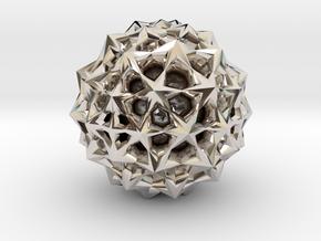 Star Bloom Uncut in Rhodium Plated Brass