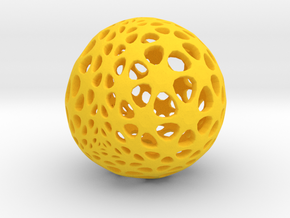Amoeball in Yellow Processed Versatile Plastic