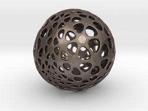 Amoeball in Polished Bronzed Silver Steel
