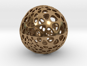 Amoeball in Natural Brass