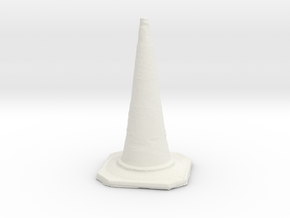 Printle Thing Work Street Cone 1/24 in White Natural Versatile Plastic