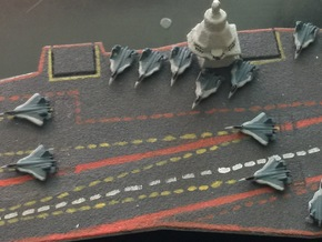 PAK FA Carrier Fighter Set, 12 pc, 1/1800 in Frosted Ultra Detail