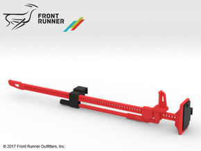FR10022 Jack and Bracket - RED in Red Processed Versatile Plastic