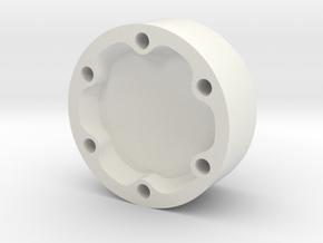 E-100 wheel hubcap in White Strong & Flexible