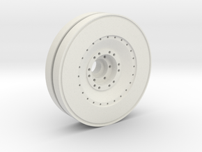 E-100 outer wheel  in White Natural Versatile Plastic