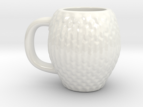 Espresso Cup: Dragon Scales in Gloss White Porcelain